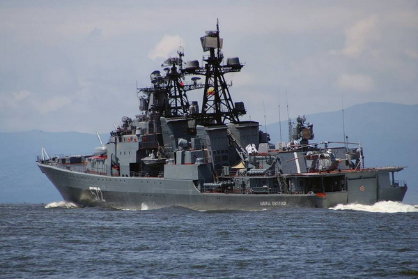 ADetachmentof Pacific Fleet Ships Conducted Exercises in the Philippine Sea