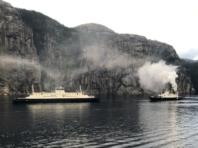 A Fire Breaks Out On A Ferry Outside Stavanger, Norway
