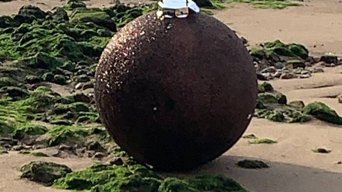 A Giant Christmas Ornament Caused Fear In London As It Was Thought To Be A World War II bomb