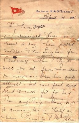 A Girl And A Love Letter That Survived The Titanic
