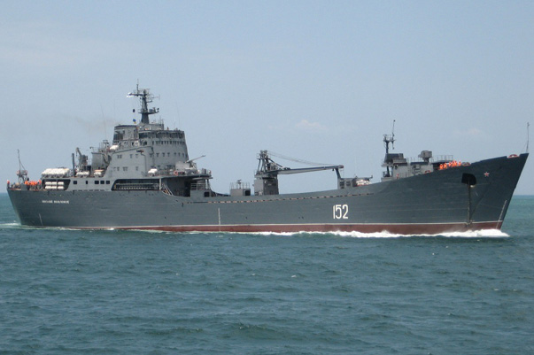 "A Large Landing Ship of the Russian Navy ""Nikolai Filchenkov"" Entered the Mediterranean"