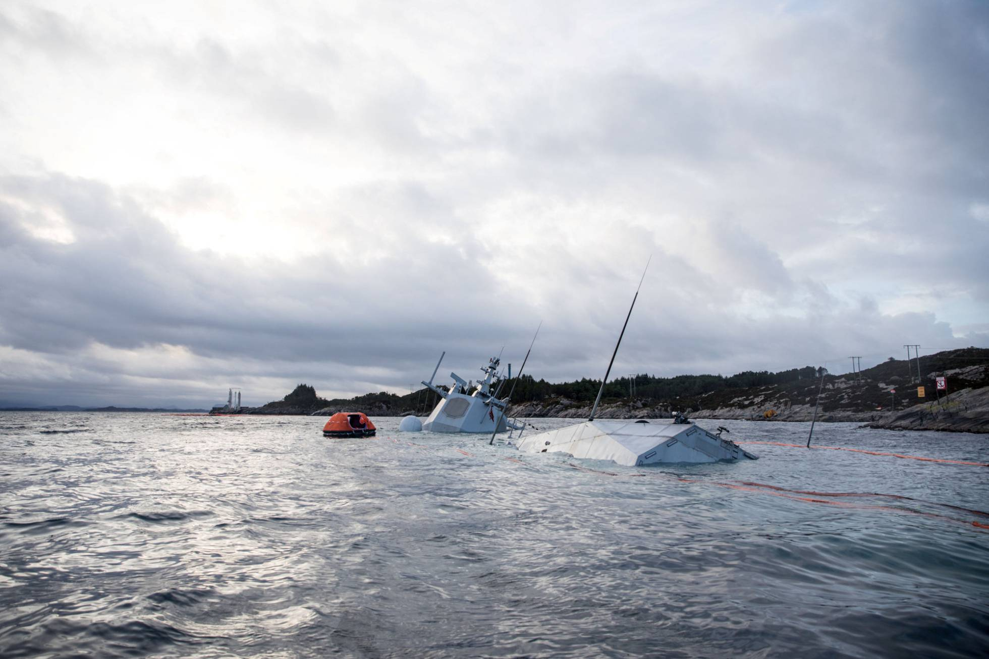 A Norwegian Frigate Sinks After Returning from NATO Military Exercises