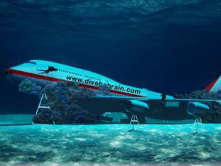 An Underwater Theme Park That Will Open in Bahrain Will Include a Jumbo Boeing 747