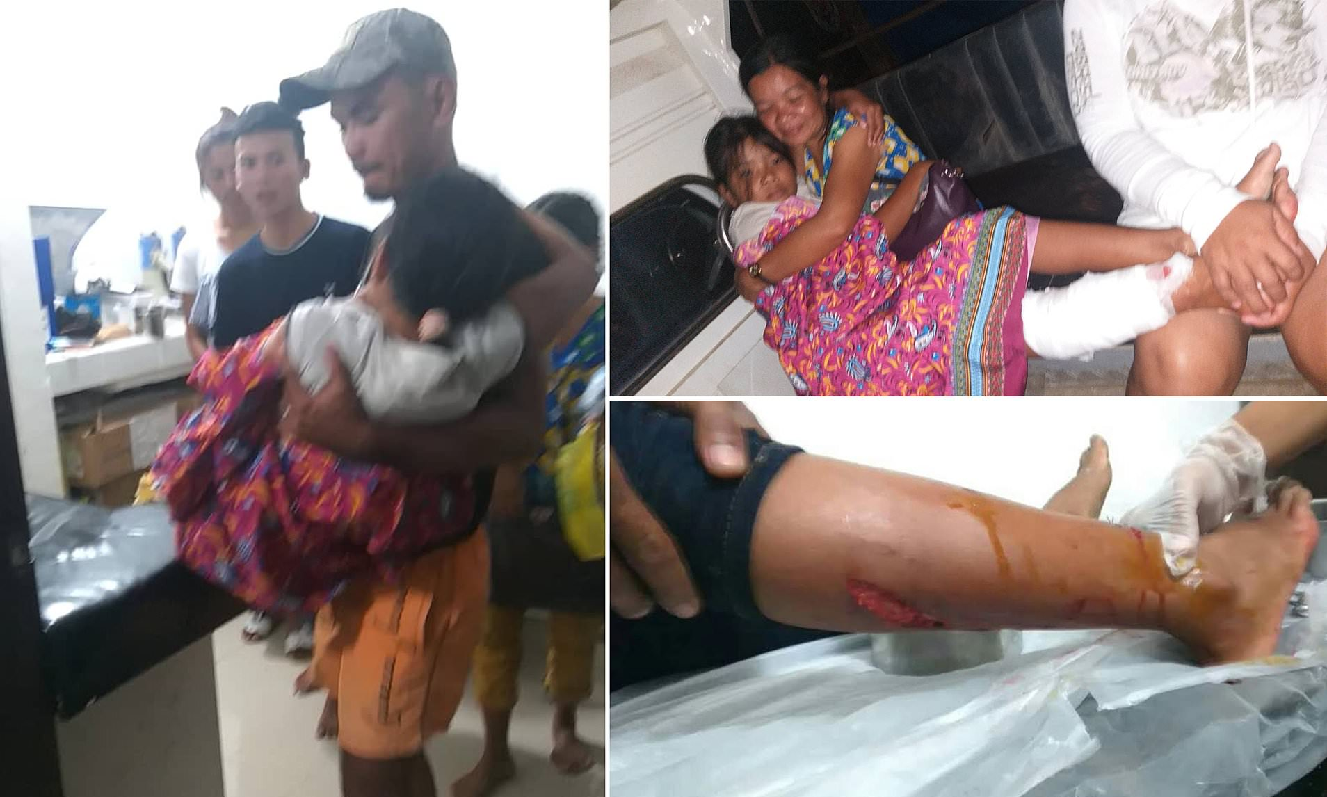 Brother Rescues His Little Sister In The Philippines When It Thrashed Out Of The River And Grabbed Her By The Leg