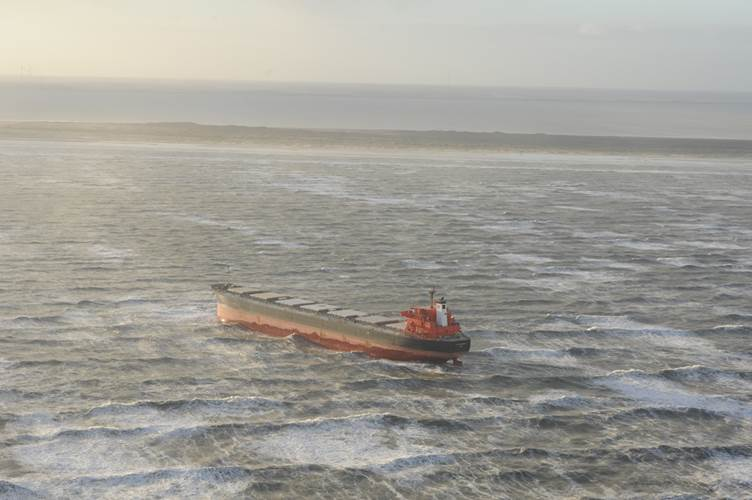 Bulker stuck in German Sandbar