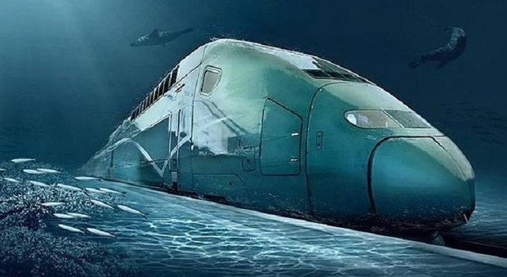 Bullet train project that goes under the sea.