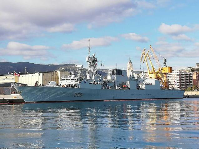 Canadian Frigate 'Halifax' Visits Palma Spain