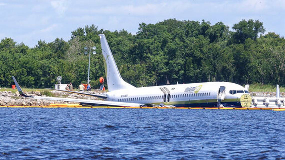 Chartered Plane Carrying 143 Passengers Lands In River Due To Equipment Issue