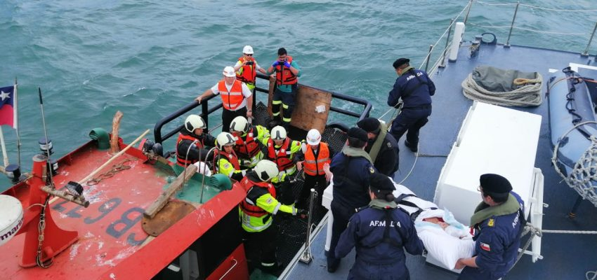 Chilean Navy Evacuated a Passenger Who Suffered an Accident Aboard a Cruise Ship in Coronel Bay, Chile