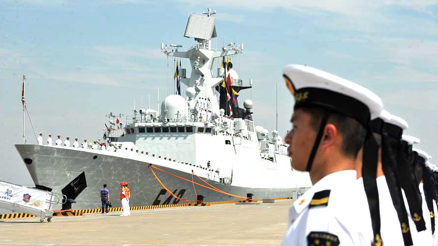 China Celebrates The 70th Anniversary Of It's Navy With A Parade Of Ships And Planes