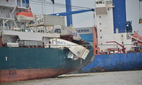 Container Collision Ho Chi Minh