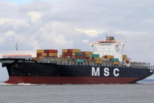 Container ship MSC Barbara