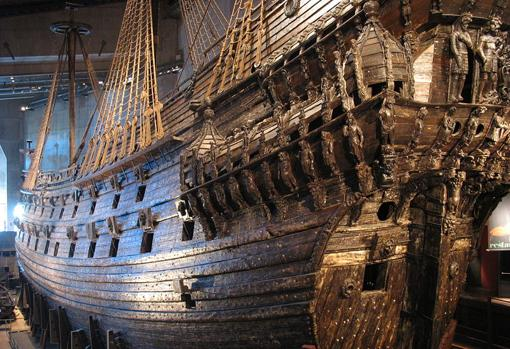Current status of the sunken ship in the 17th century