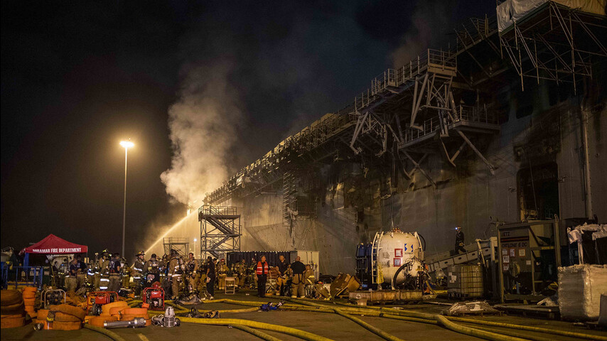 Deliberate Fire Aboard A US Ship Can Become The Most Expensive Arson