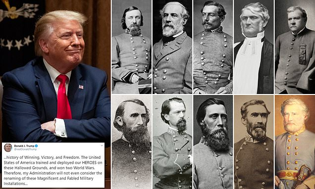 Donald Trump Opposes Renaming Military Bases That Honour Confederate Leaders