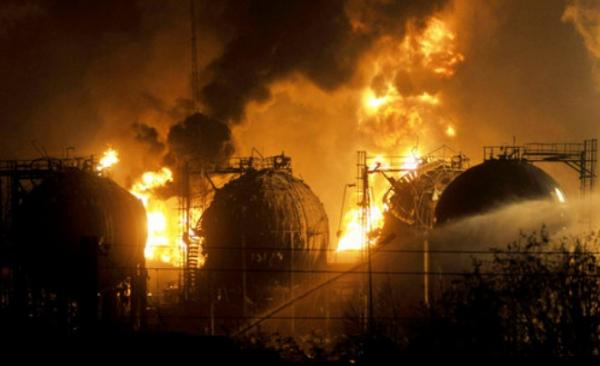 Explosions of the Jilin petrochemical factory
