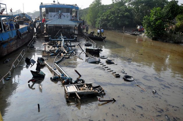 Factories and boats, risk to Bengal tiger