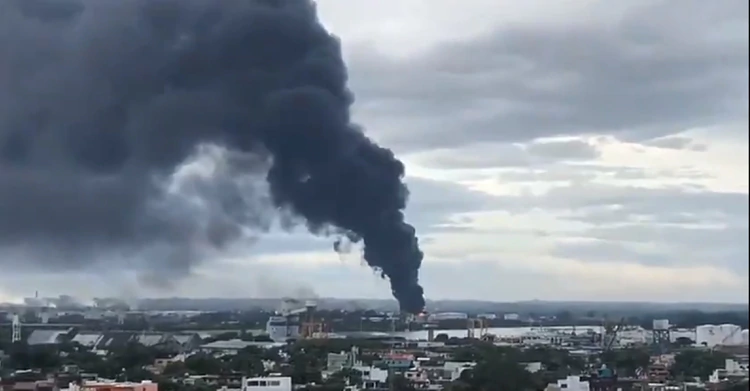 Fire In Pajaritos Pemex Maritime Terminal Was Again Affected By An Accident