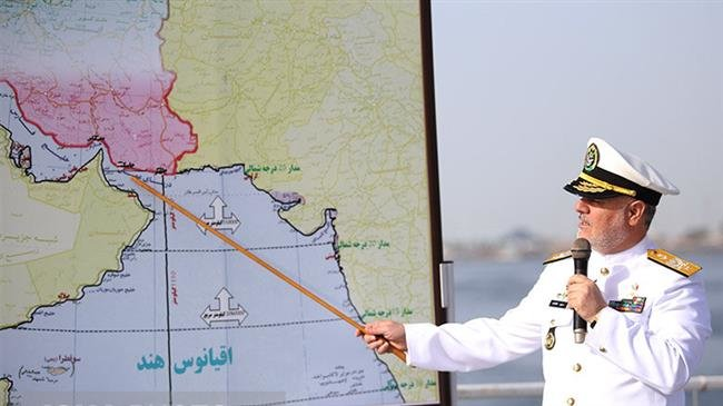 IRAN BEGINS A LARGE-SCALE MILITARY NAVAL EXERCISE IN THE PERSIAN GULF AND THE OMAN SEA