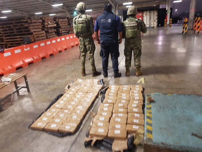 In Mexico City 82 Kilos Of Cocaine Found By The Navy Of Mexico On Ship With Flag Of Liberia