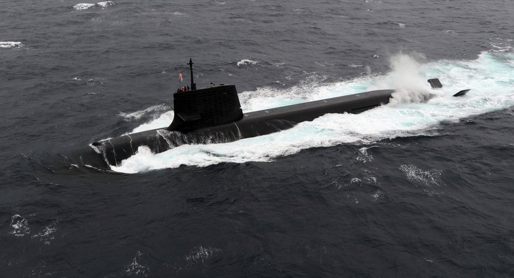 Japanese Submarine Participates For The First Time of Exercises in the South China Sea