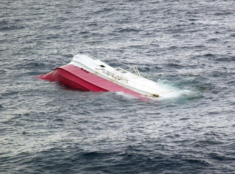 Search Underway For Crew Of Capsized Fishing Ship Off