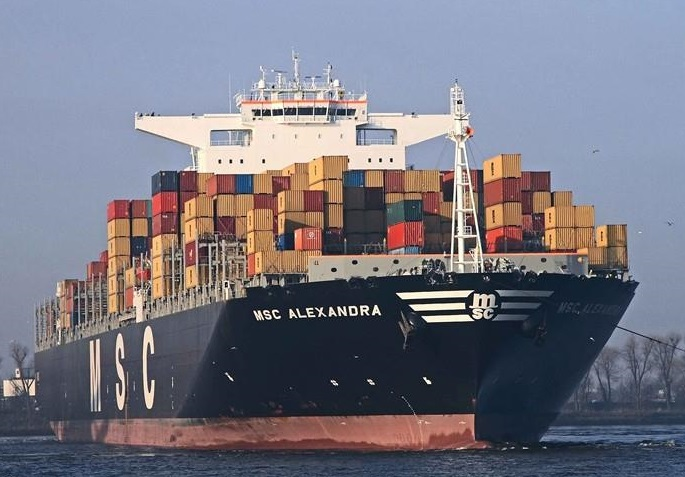 Container carrier MSC Alexandra and VLCC Dream collided in