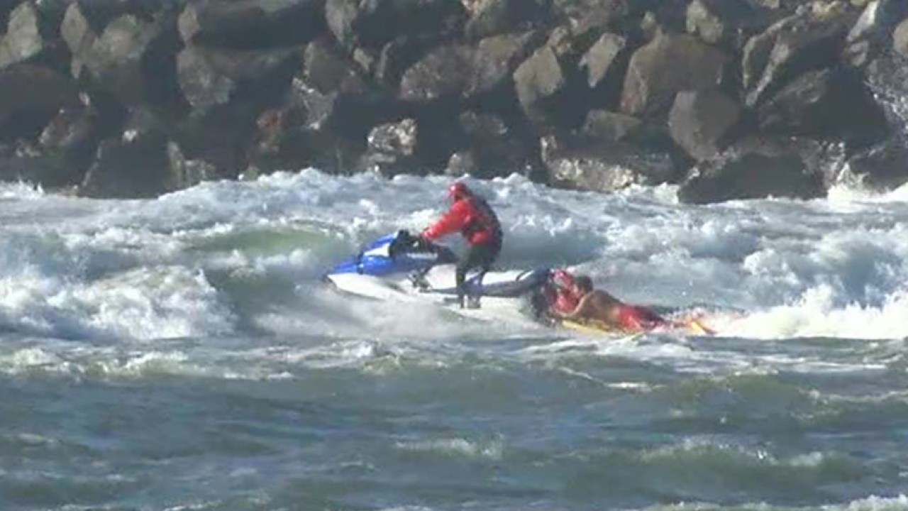 Man Dies Trying To Rescue His Dogs From Strong Waves