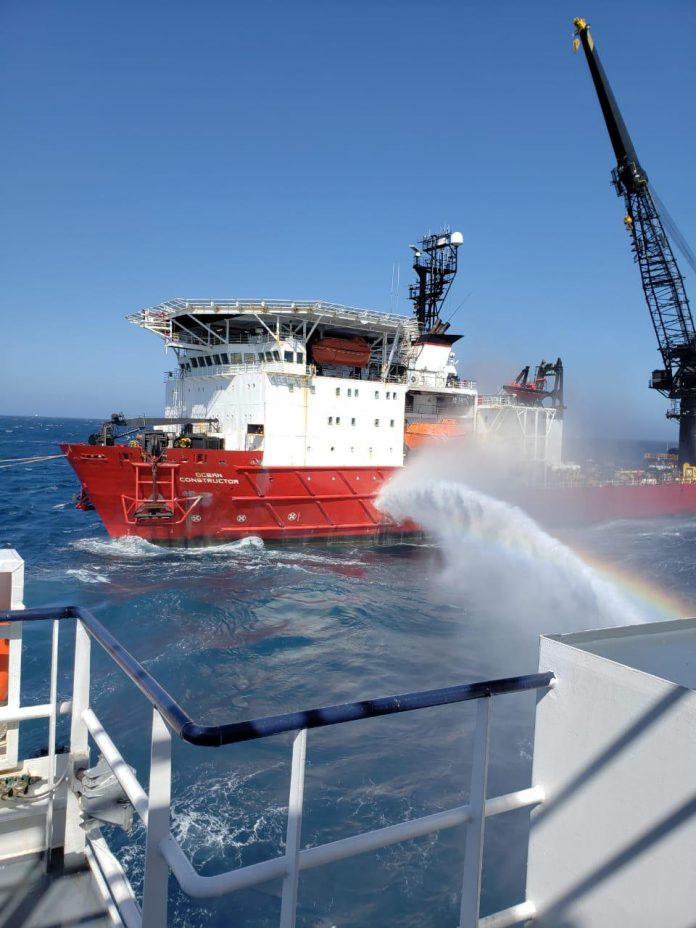 Oil Tanker Catches Fire at Sea