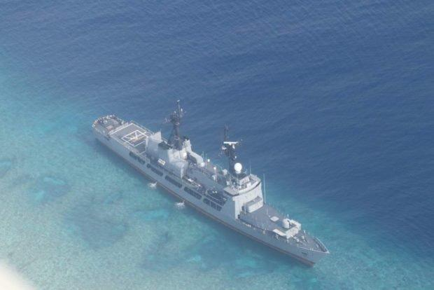 Philippine Frigate Runs Aground on Sandbar in Disputed Waters with China
