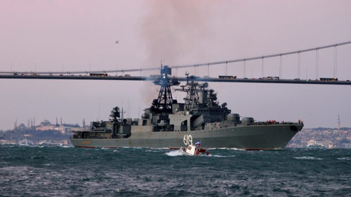 Russia Deploys a Naval Group in the Black Sea to Patrol During the NATO Exercises