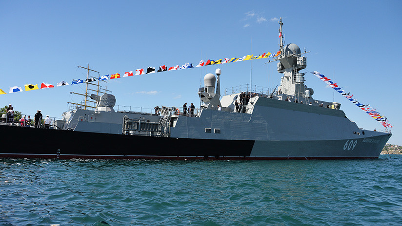 Russian Missile Corvette Complete Exercises in the Black Sea