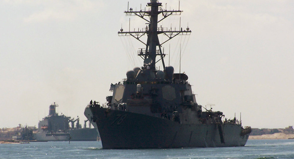 Russian Navy Escorts American Warship In The Black Sea