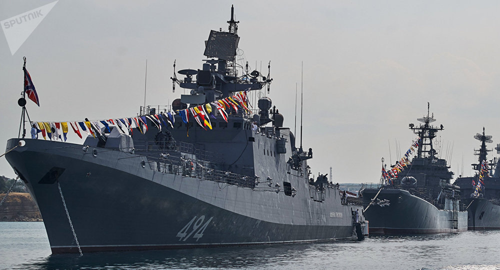 Ships of the Black Sea Fleet Participate in Maneuvers in the Mediterranean