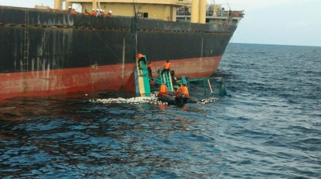 Survivor Rescued After 4 Days Adrift After The Sinking Of A Freighter In Indonesia, 17 Still Missing
