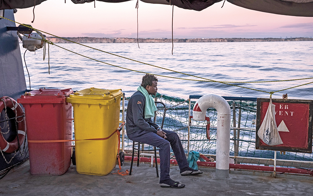 Survivors of War and Slavery Stranded At Sea
