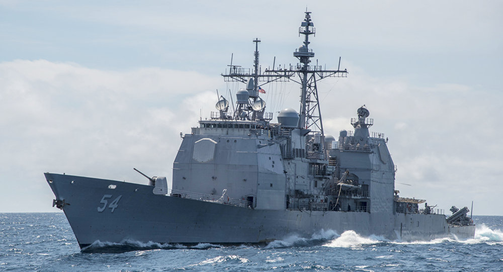 THE UNITED STATES NAVY NAVIGATES THE TAIWAN STRAIT FOR THE THIRD TIME IN THREE MONTHS