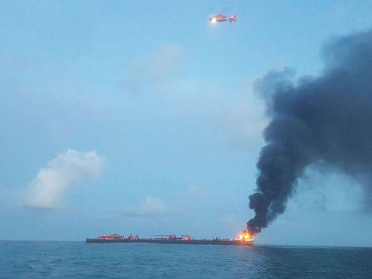 Texas Barge Fire
