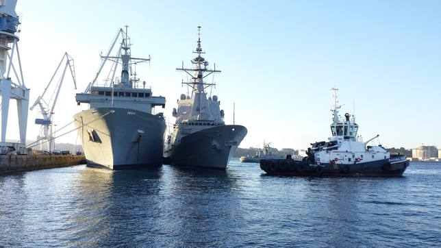 The Frigate Christopher Columbus is already in Glasgow (Scotland) to participate in the exercise Joint Warrior 1911