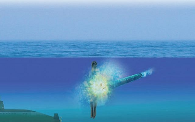 The Israeli Navy announced today that it incorporates a new quieter, faster and more intelligent torpedo called Kaved