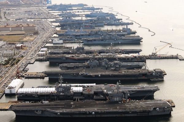 The Largest Base of the US Navy Was Threatened with Flooding