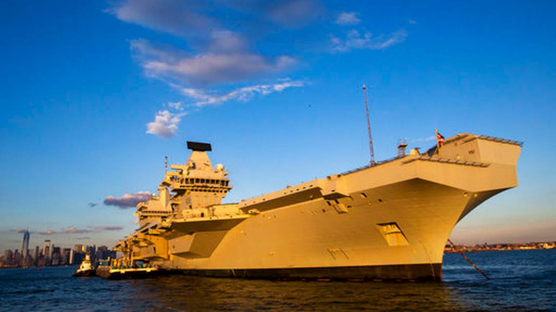 The Largest Ship of the British Navy Visits New York