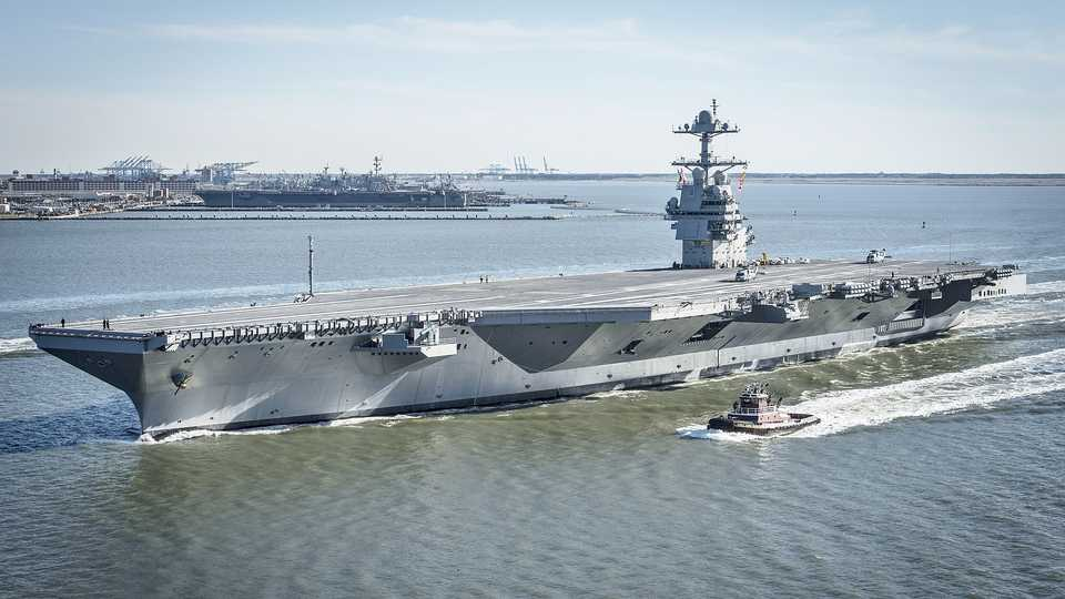 The New $13 Billion US Navy Aircraft Carrier Has Returned To The Sea