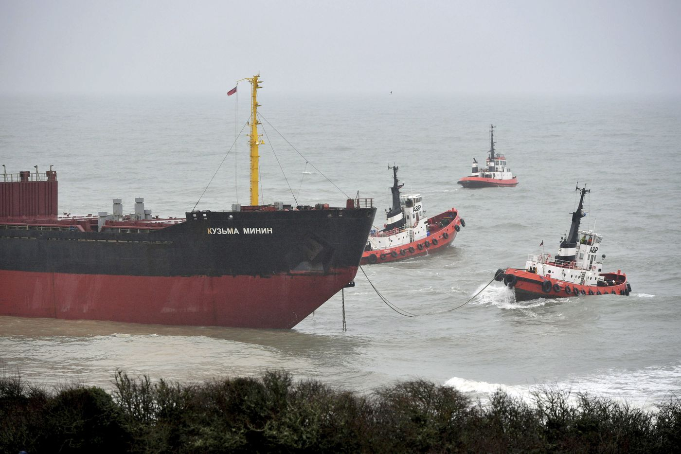 The Risky Rescue of the Crew of a Ship in the Middle of a Storm