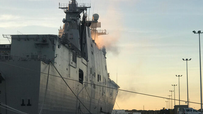 The Ship 'Juan Carlos I' Leaves on Monday to the Sea