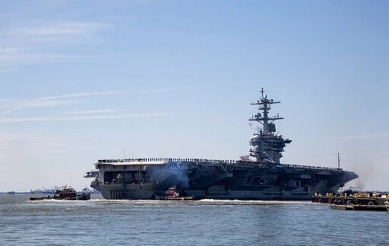 The US Mobilizes An Aircraft Carrier to Send a Message to Iran
