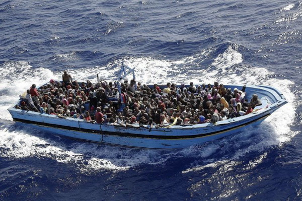 The flow of migrants to Europe through the Mediterranean Sea has declined