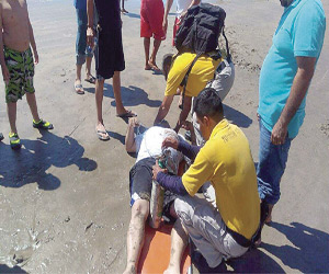 The injured person was given first aid in Mazatlan