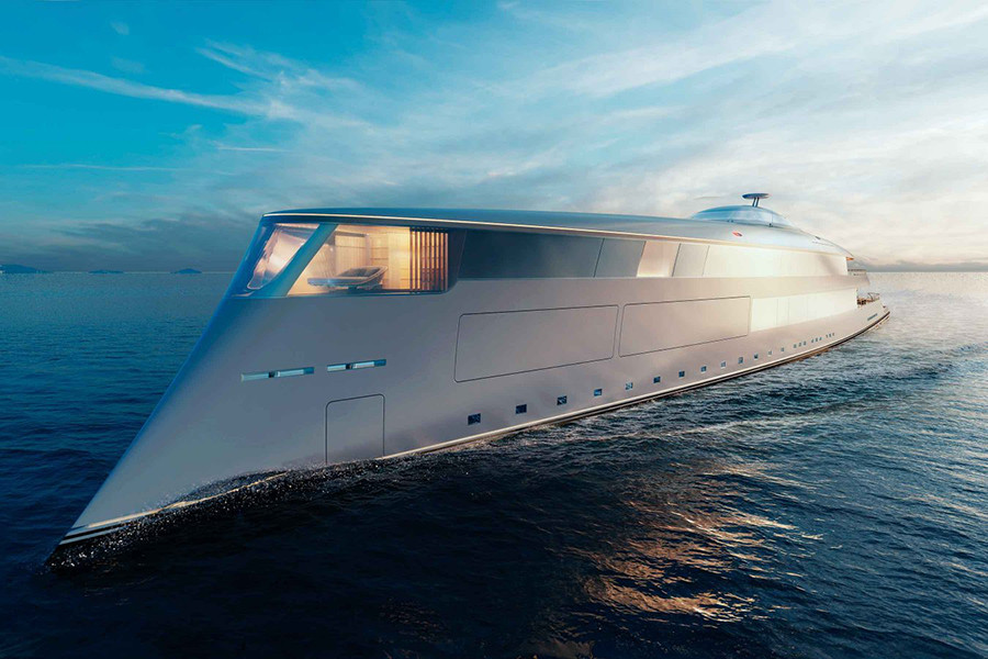 This Is How The Colossal Futuristic Yacht That Runs With Liquid Hydrogen Looks Like