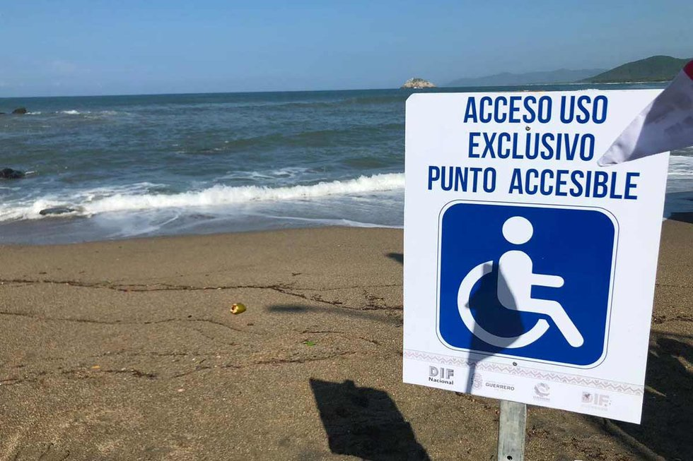 This is the First Inclusive Beach ... and it's in Guerrero